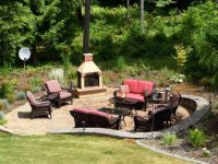backyard ideas - fire pit with seating area. | Dream house ...