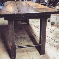 Industrial dining, Industrial dining tables and Rustic