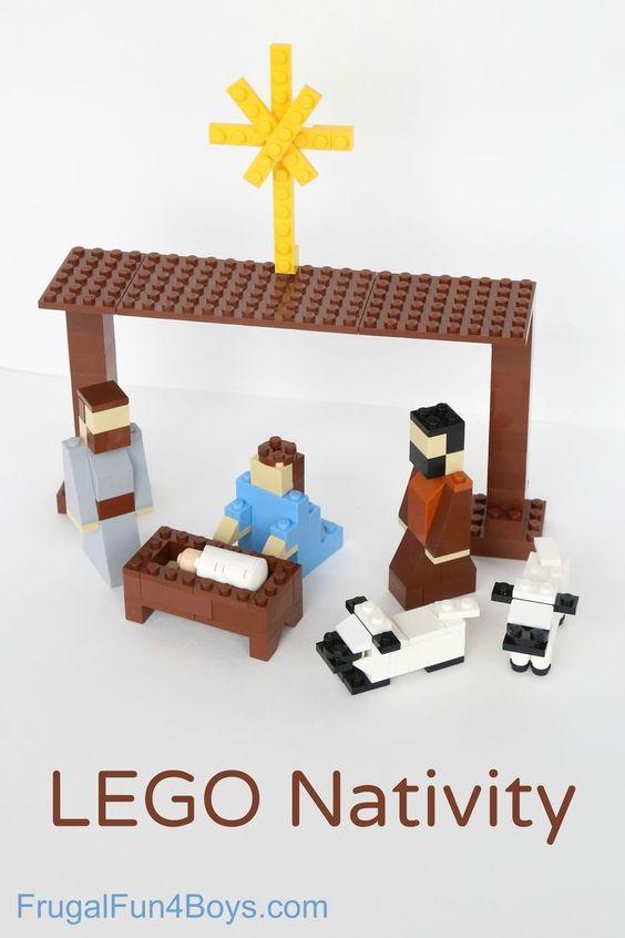 kerststal lego