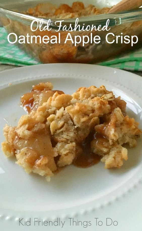 apple crisp recipe old fashioned oatmeal recipes and