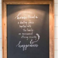 Framed Chalkboard For Kitchen Solid Wood Table Joanna Gaines, Large Poster Frames And Chalkboards On ...