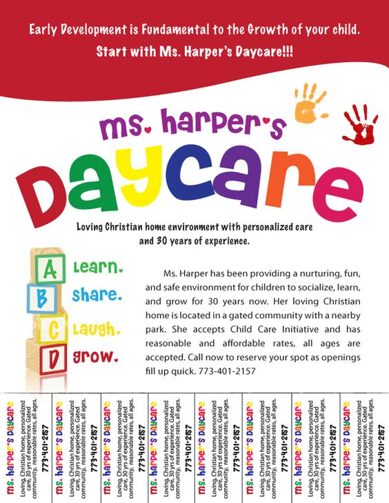 Daycare Advertising Examples