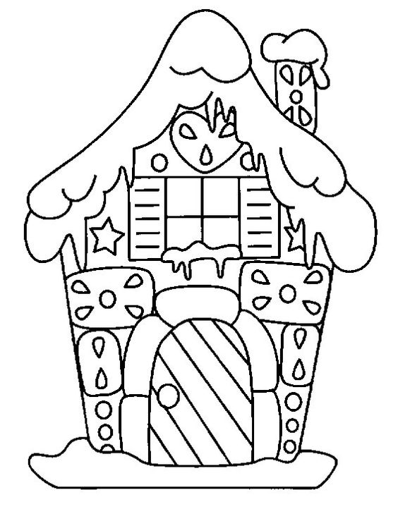 Coloring, Cute house and Gingerbread houses on Pinterest