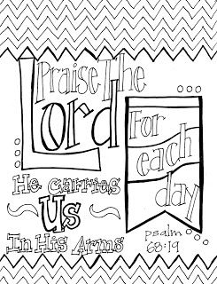 Look to Him and be Radiant: Scripture Coloring Page