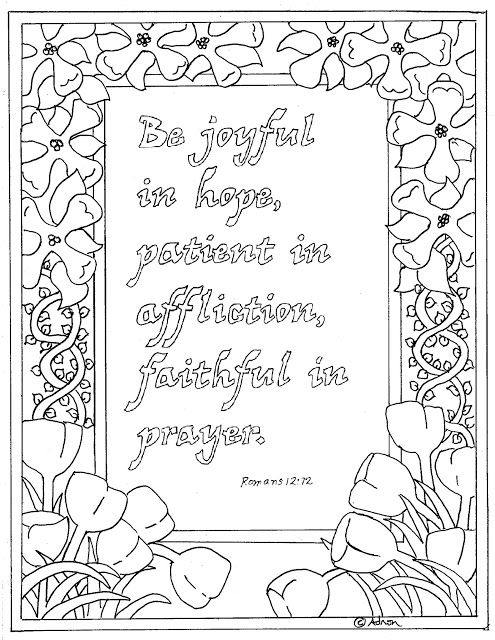 Coloring Pages for Kids by Mr. Adron: Be Joyful, Printable