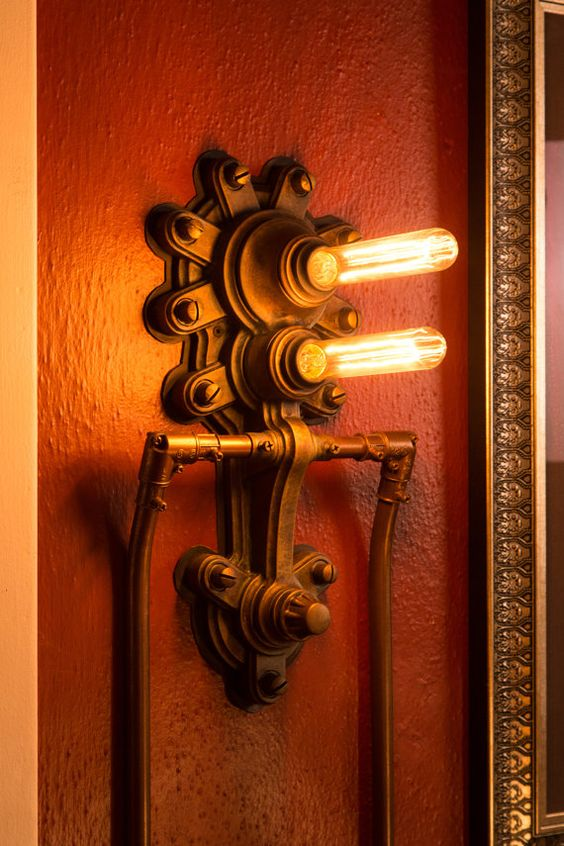 Steampunk lamp, Wall sconces and Sconces on Pinterest