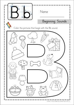 Beginning sounds, Kindergarten anchor charts and Letter b