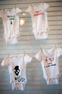 Baby Shower Onesie Decorating Ideas | Precious Moments ...