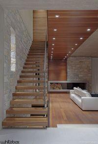 """Contemporary design home"" Single open stringer design ..."