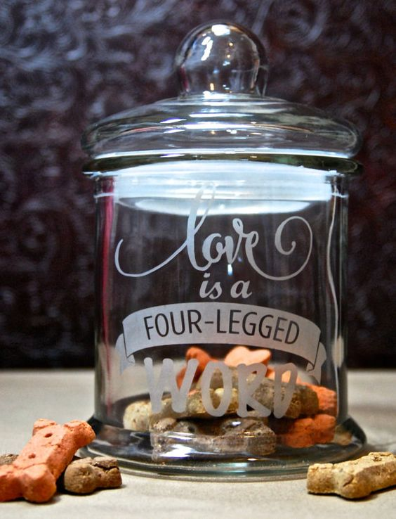 Download Dog treat jar, Dog treats and Love is on Pinterest