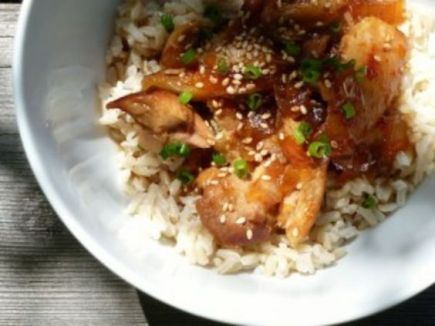 Gluten Free Dairy Free Honey Bourbon Chicken in the Slow Cooker:
