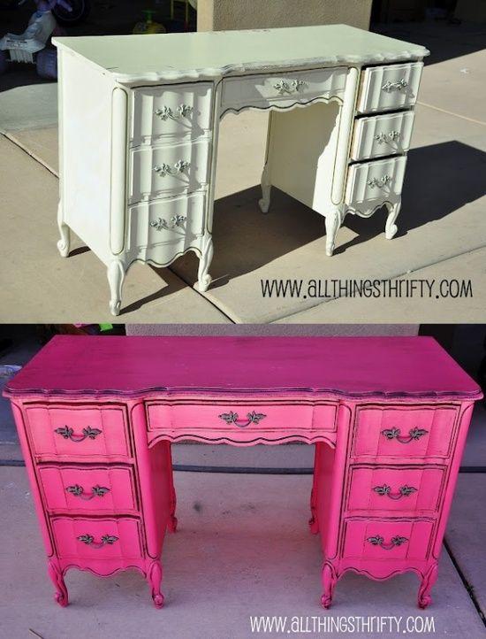 The Chic Technique Hot Pink desk Love the desk but