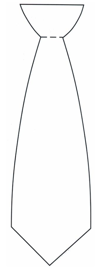 Here's a printable tie template for all of your Father's