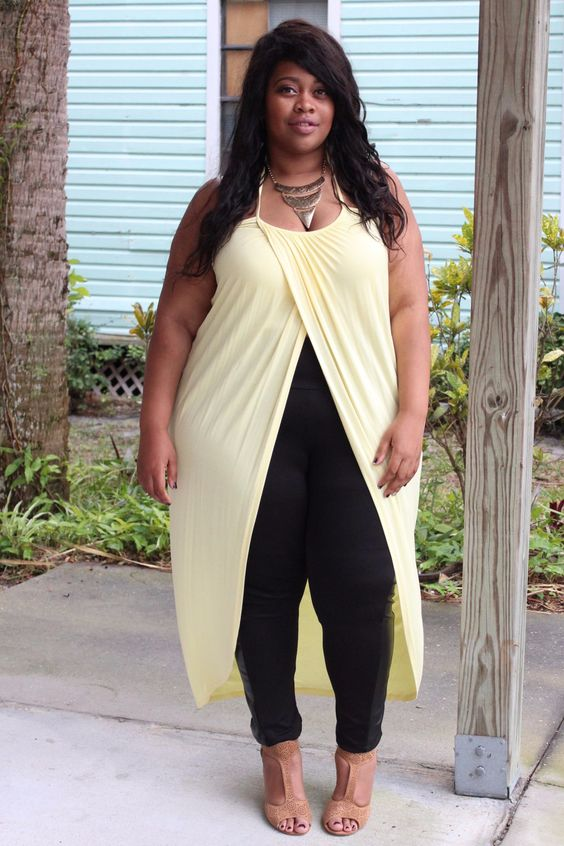Plus Size Clothing for Women - Long Wrap Halter Top - Buttercup (Sizes 14 - 18) *Stretches to size 24* - Society+ - Society Plus - Buy Online Now!