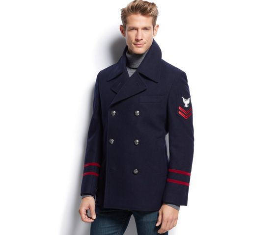 Pea Coat Men Big And Tall JacketIn