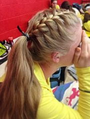 volleyball hair sporty