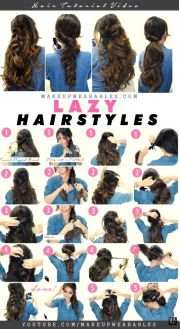 lazy easy fall hairstyles braids