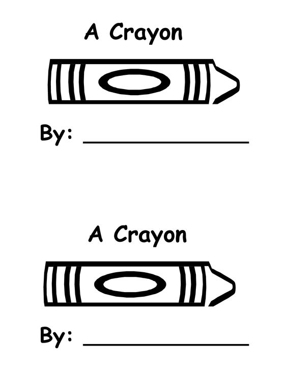 Crayons, Templates and Book on Pinterest