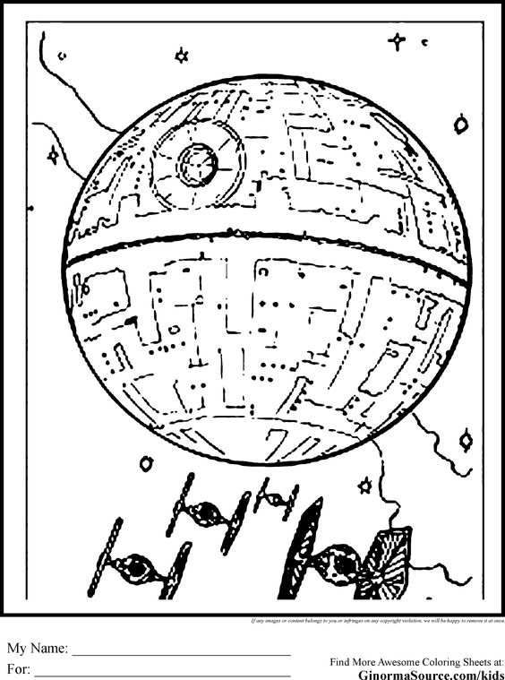 Death star, Coloring and Google on Pinterest