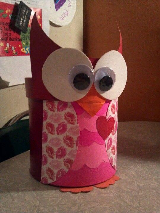 Owl Valentines Day Box Valentines Day