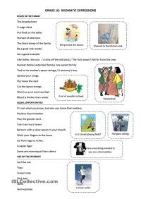 Idioms, Worksheets and Printables on Pinterest