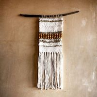 Woven wall hanging, Hanging tapestry and Wool on Pinterest