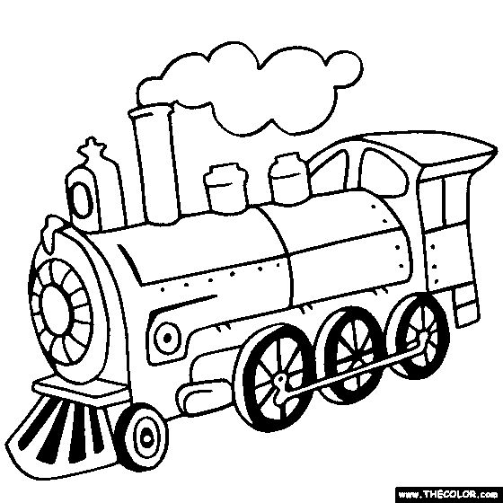 Steam locomotive, Trains and Coloring on Pinterest