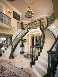 Double staircase in the Henley Foyer at Tridelphia ...