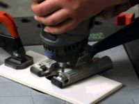 How to cut holes in ceramic tile with a dremel | Patterns ...