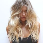 beach hair summer highlights