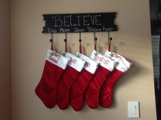 Stocking Holder Hobby Lobby Believe Christmas Pinterest Stockings