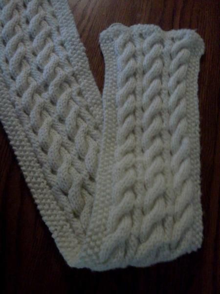 Reversible Cable Scarf Free Pattern