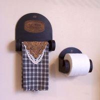 Primitive Bathroom Storage Towel Shelf and Toilet Paper ...