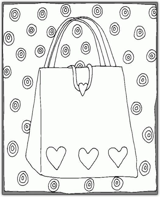 Purse Coloring Pages ColoringPagesABCcom cakepins.com