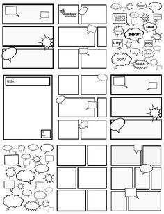 FREE COMIC STRIP TEMPLATES~ Great for kids to color, cut
