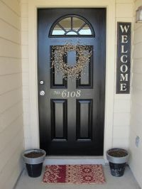 Front doors, House numbers and Welcome signs on Pinterest