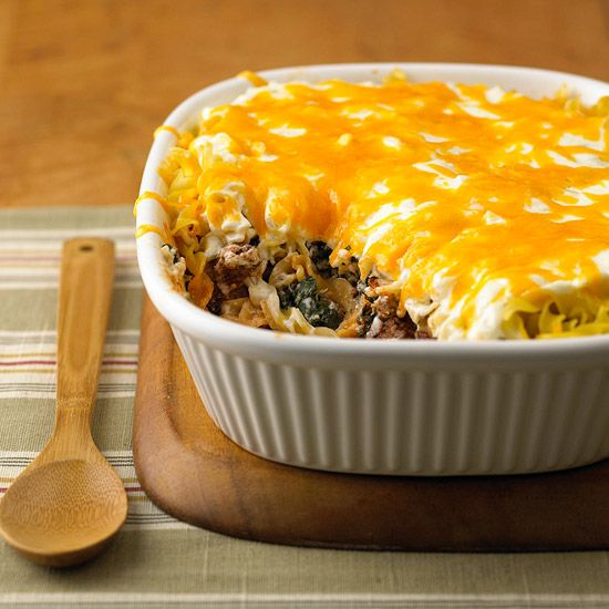 Ground Beef Recipes Casserole Recipes Spinach And Cheese