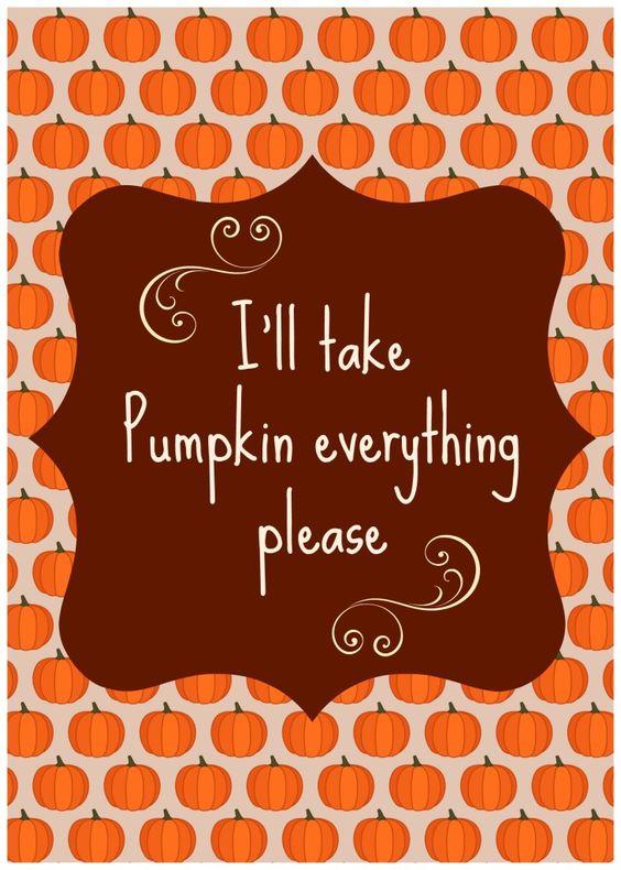 pumpkin everything please: