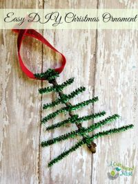 Pipe Cleaner Christmas Tree Ornament Craft