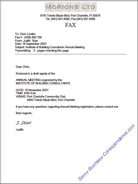 Business Fax Cover Sheet with Proper Formatting and page count  Business Faxes  Pinterest
