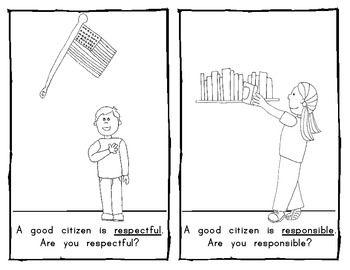 Being a Good Citizen EMERGENT READER for Social Studies