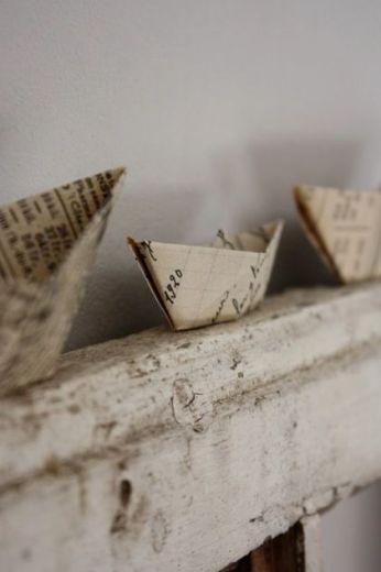 Bateaux en papier ancien:
