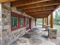 Stone faade, patio, and post foundations; daylighting for ...