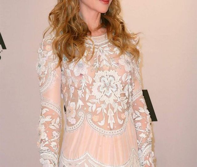 Nicole Kidman Nipple Peek On The Cma Red Carpet Http