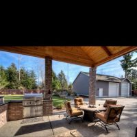 Backyard covered patio with built in BBQ ideas for Eric ...