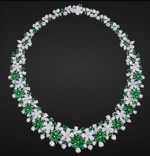 Emerald  Diamond Necklace by Graff  Jewels  Pinterest