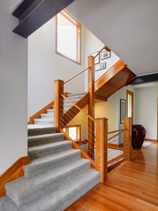 Cable Banister and Railing Ideas to Design the Staircase