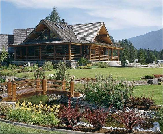 log cabin home moutain retreats