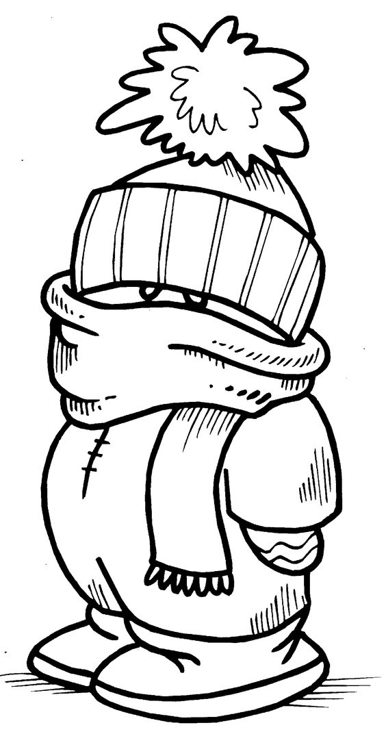 Printable interactive Winter coloring pages, Winter
