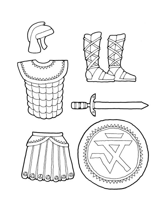 Man figure, Armor of god and Coloring pages on Pinterest